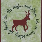 Reindeer card - Set of 6