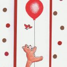Bear and balloon card - set of 6