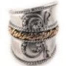 Sterling Silver Medieval Fantasy Armour Ring Size 10