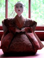 c. 1900 Antique Japanese Doll with Face & Hands made of Oyster Shells