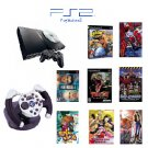 "PS2Slim Sony Playstation 2 ""Anime Bundle"" - 3 Games, 5 Movies, 1 Wheel and more"