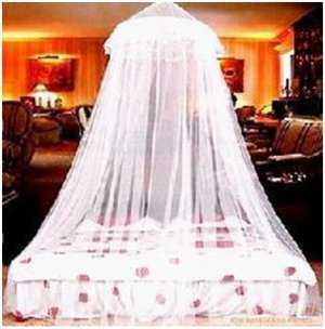 Mosquito Bed Canopy Netting Mesh Net - 10 Feet Tall & Bed Canopy Netting Mesh Net - 10 Feet Tall
