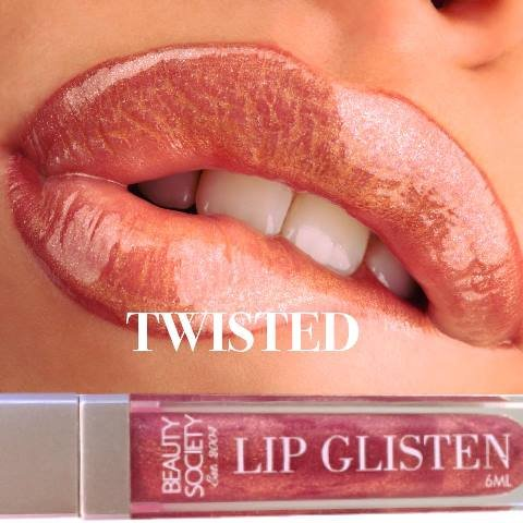 Beauty Society Lip Glisten - Twisted gorgeous tube with LED applicator and mirror