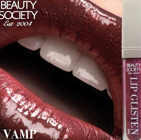 Beauty Society Lip Glisten - Vamp gorgeous tube with LED applicator and mirror