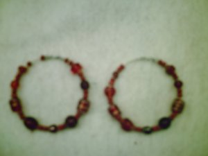 """""""Passionate Soul"""" Bead Hoops"""