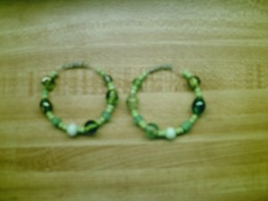 """Living Soul"" Bead Hoops"