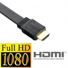 6 Foot Flat HDMI Cable 1.3 Premium Gold Plated HDTV 1080P - 6ft / 2m