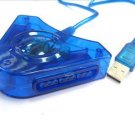 Dual PS2 Controller To USB Adapter / Converter Cable / Cord - For PS3 / PC / Playstation 3
