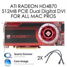 Mac Pro ATI Radeon HD 4870 512MB PCIe DVI Video Graphics Card