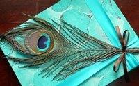 Peacock Feather Custom Wedding Guest Book