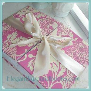 Double Bound Unique Custom Wedding Guest Book