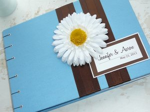 Custom Guest Book with Flower