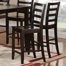 Set of 2 Fairwinds counter height chairs with wood seat in cappuccino finish, SKU#: FAS-CAP-W