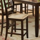Set of 2 Fairwinds counter height chairs with upholstered seat in cappuccino finish, SKU#: FAS-CAP-C