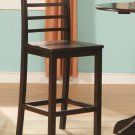Set of 2 Lily bar height chairs with wood seat in cappuccino finish, SKU#: LS-CAP-W