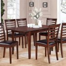 7-PC Picasso Kitchen Dining Set, Table W32xL60xH30 with 6 Faux Leather Chairs in Mahogany