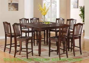 "Chelsea Dinette Dining Counter Height Table w/ 18"" Leaf (without chair) Black & Cherry SKU: CT-MAH-T"
