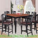 "Dinette Dining Counter Height Table with 18"" Leaf (without chair) in Black & Cherry SKU#: CT-BLK-T"
