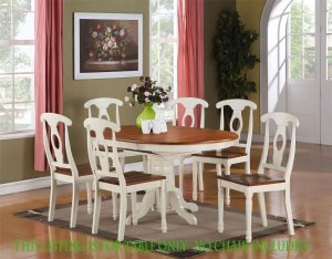 Kenley KitchenDinette Table Without Chair in Buttermilk & Saddle Brown SKU#: KT-WHI-T