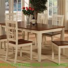 """Nicoli Kitchen Table Without Chair 36X66"""" in Buttermilk & Saddle Brown SKU#: NT-WHI-T"""