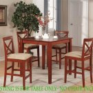 """36"""" Square Counter Height Table Only in Cherry Brown Finish, SKU#: PBT-BRN-T"""