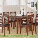 """PISCASSO RECTANGULAR KITCHEN DINING TABLE WITH 12"""" LEAF IN MAHOGANY FINISH NO CHAIR, SKU#: PIS-MAH-T"""