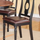 SET OF 6 KENLEY DINETTE KITCHEN DINING CHAIRS w/ LEATHER SEAT IN BLACK, SKU: KC-BLK-LC