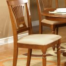 Set of 2 dinette dining chairs with microfiber upholstered in Saddle Brown, SKU# PVC-SBR-C