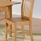 1 Norfolk dinette kitchen dining chair with wooden seat in light oak finish. SKU: NFC-OAK-W