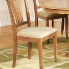 Set of 2 Avon Kitchen Dining Chair with Microfiber Upholstered in Oak Finish, SKU: AVC-OAK-C2