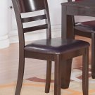 Set of 4 Lynfield dinette dining chairs with leather seat in cappuccino, SKU: LY-LC4-CAP