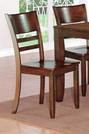 Set of 10 Lynfield dinette dining chairs with plain wood seat in espresso, SKU: LY-WC10-ESP