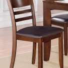 Set of 2 Lynfield dinette dining chair with leather seat in Espresso, SKU: LY-LC2-ESP