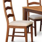 Set of 2 Henley dinette dining chairs with microfiber upholstered in espresso, SKU: HC-BRN-C2