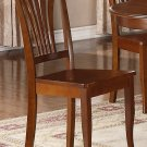 Set of 4 Avon Dinette Dining Chair with Plain Wood Seat in Saddle Brown, SKU: AVC-SBR-W4