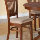 Set of 2 sturdy dinette kitchen dining chairs w/ microfiber upholstery in Espresso, SKU: VAC-ESP-C