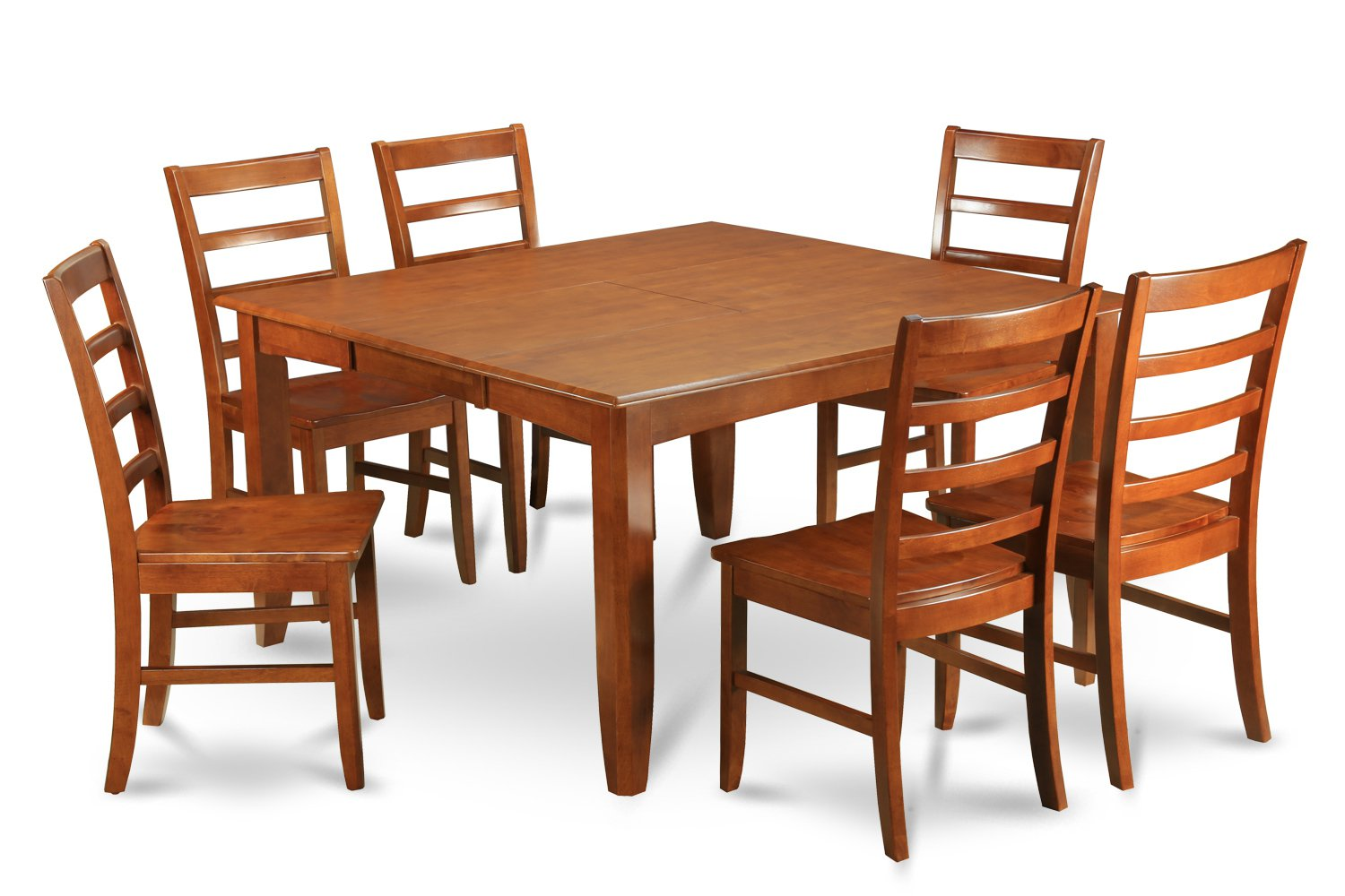 9 Pc Parfait Square Dining Set Table With 8 Wood Seat