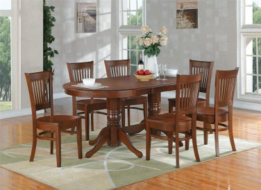 "Vancouver Double Pedestal Dining Table L76""xW40"" in Espresso, Chair is not included, SKU: VT-ESP-T+B"
