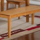 """One Capri Dinette Kitchen Dining Bench L52xW16xH18"""", Wood Seat In Light Oak, SKU: EWBEN-OAK-W"""