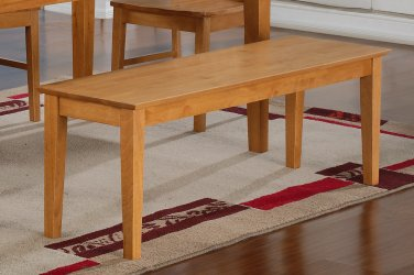 "One Capri Dinette Kitchen Dining Bench L52xW16xH18"", Wood Seat In Light Oak, SKU: EWBEN-OAK-W"