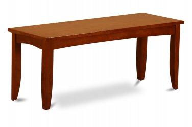 "Parfait Dining Bench in Saddle Brown, L43""xD15""xH18"". SKU: PFB-SBR-W"