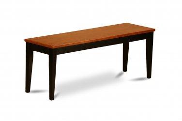 "Parfait Dining Bench in 2 Tone Black with Cherry Finish, L43""xD15""xH18"". SKU: PFB-BLK-W"
