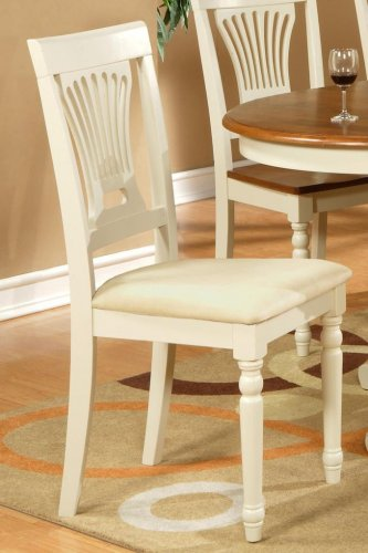 6 Plainville dining chairs with microfiber upholstered seat in buttermilkSKU# PVC-WHI-C