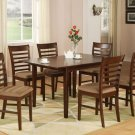 "Milan Dinette Kitchen Set, Table 36""x 54"" with 4 Chairs in Mahogany Finish SKU#: MILA5-MAH-C"