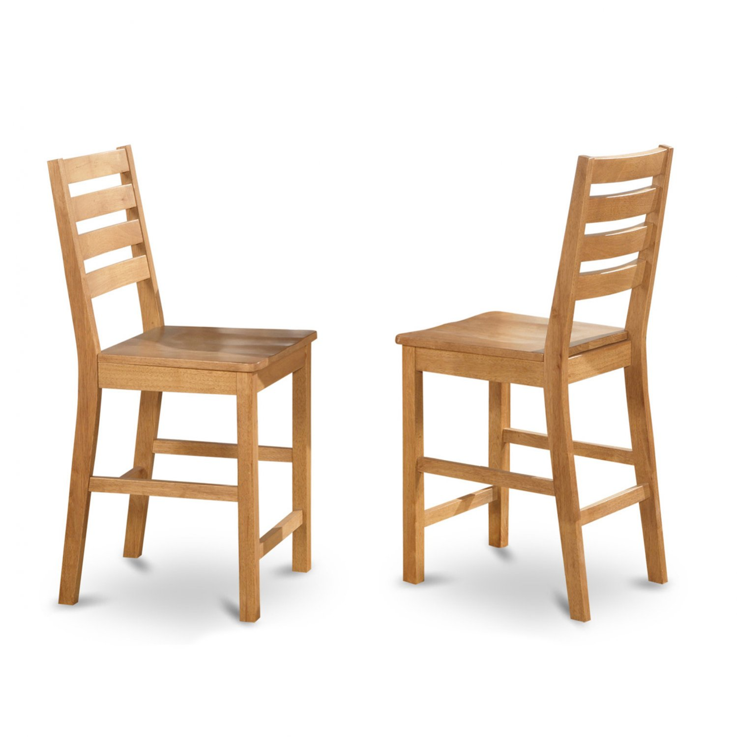 Set Of 4 Caf 233 24 Quot Counter Height Wood Seat Bar Stool