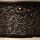 S.T. Dupont Men Brown Leather Zippered Clutch Bag