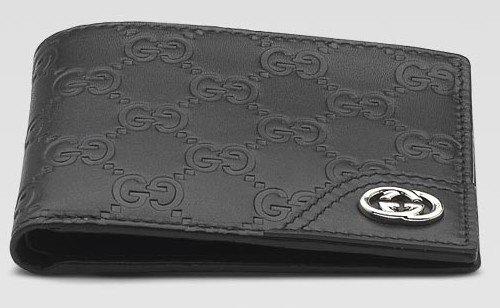 Gucci Men Bio-Fold Wallet Guccissima Black Leather 181674 A0V1N 1000
