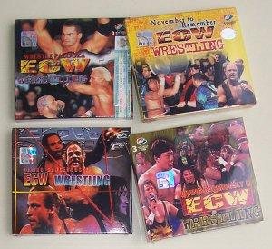 ECW 4 VCDs - Wrestlepalooza (1998), November to Remember (1998), Living Dangerously (1998 & 1999)