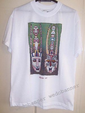Printed Beautiful Batik Art Design T Shirt - New - Great Buy..!!