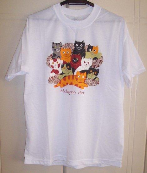 Printed Beautiful Batik Art Design T Shirt - New - Great Buy..!!